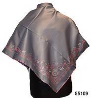 Шелковый серый римский атласный платок, фото 1