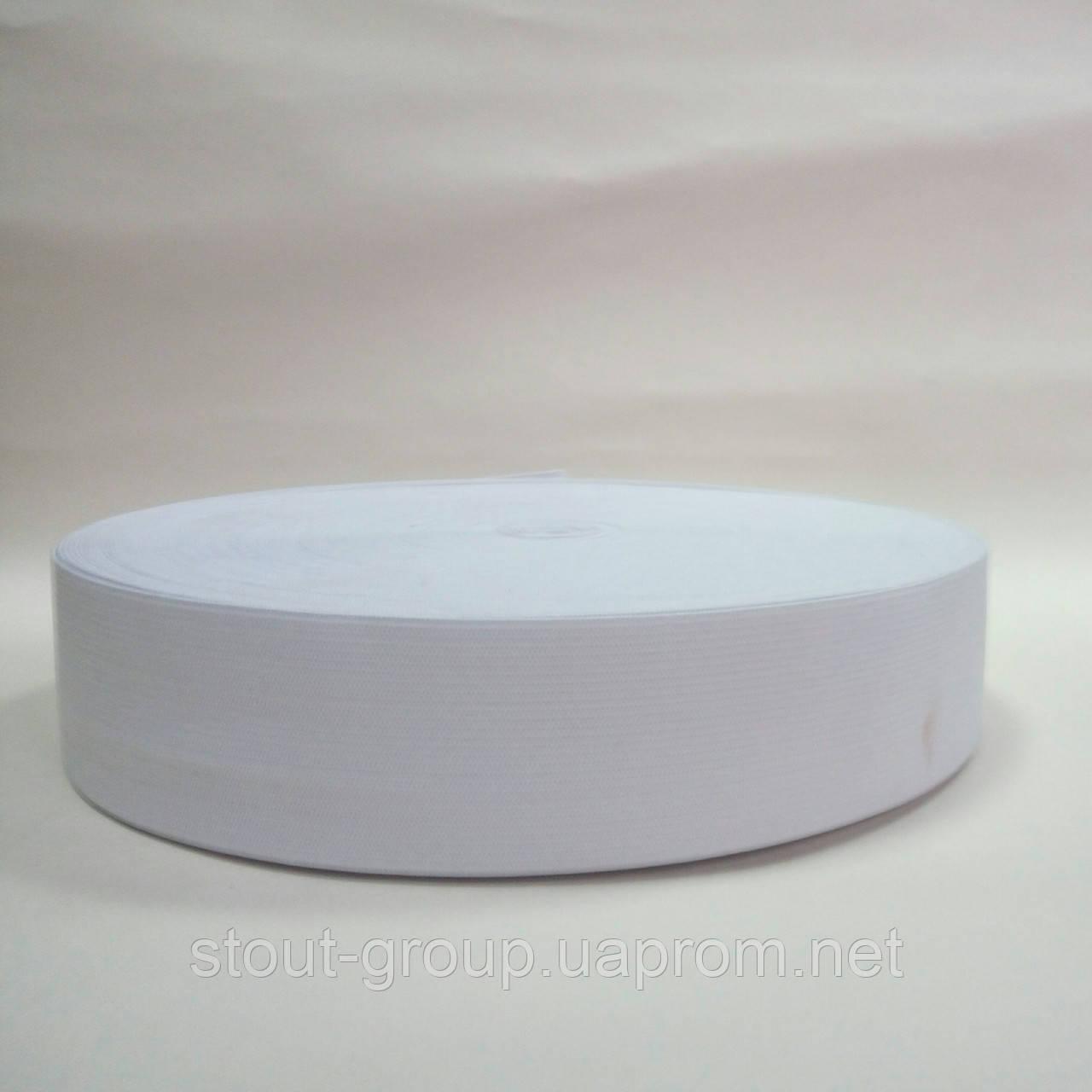 Эластичная лента 40 мм, белая