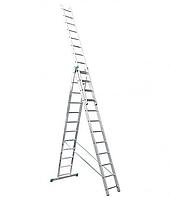 Itoss 3x12. 3-х секционная универсальная алюминиевая лестница. 8 метров