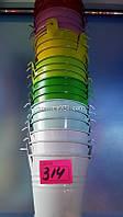 Сувенир металлическое ведёрко цветное 7,0 см
