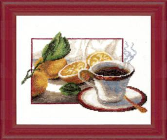 Чашка кофе. Набор для вышивки крестом
