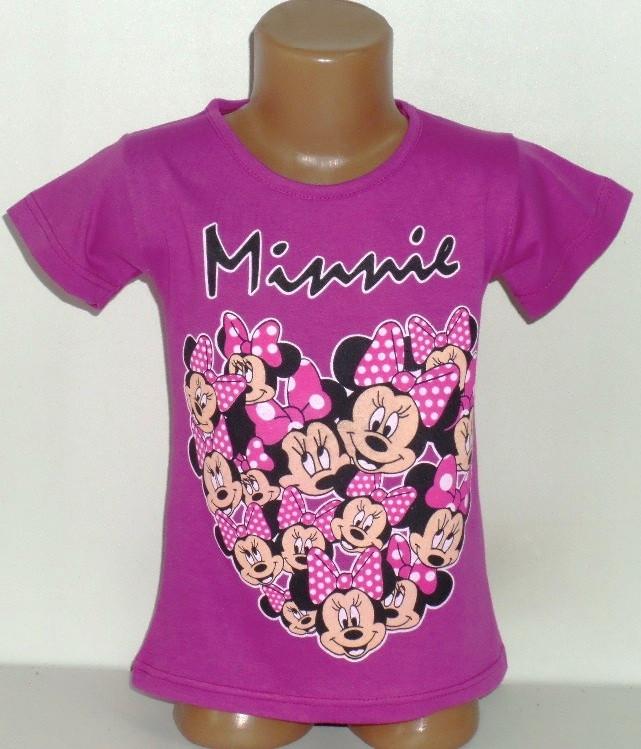 """Детская футболка  """"Minnie"""" для девочек 4,5,6,7,8 лет"""