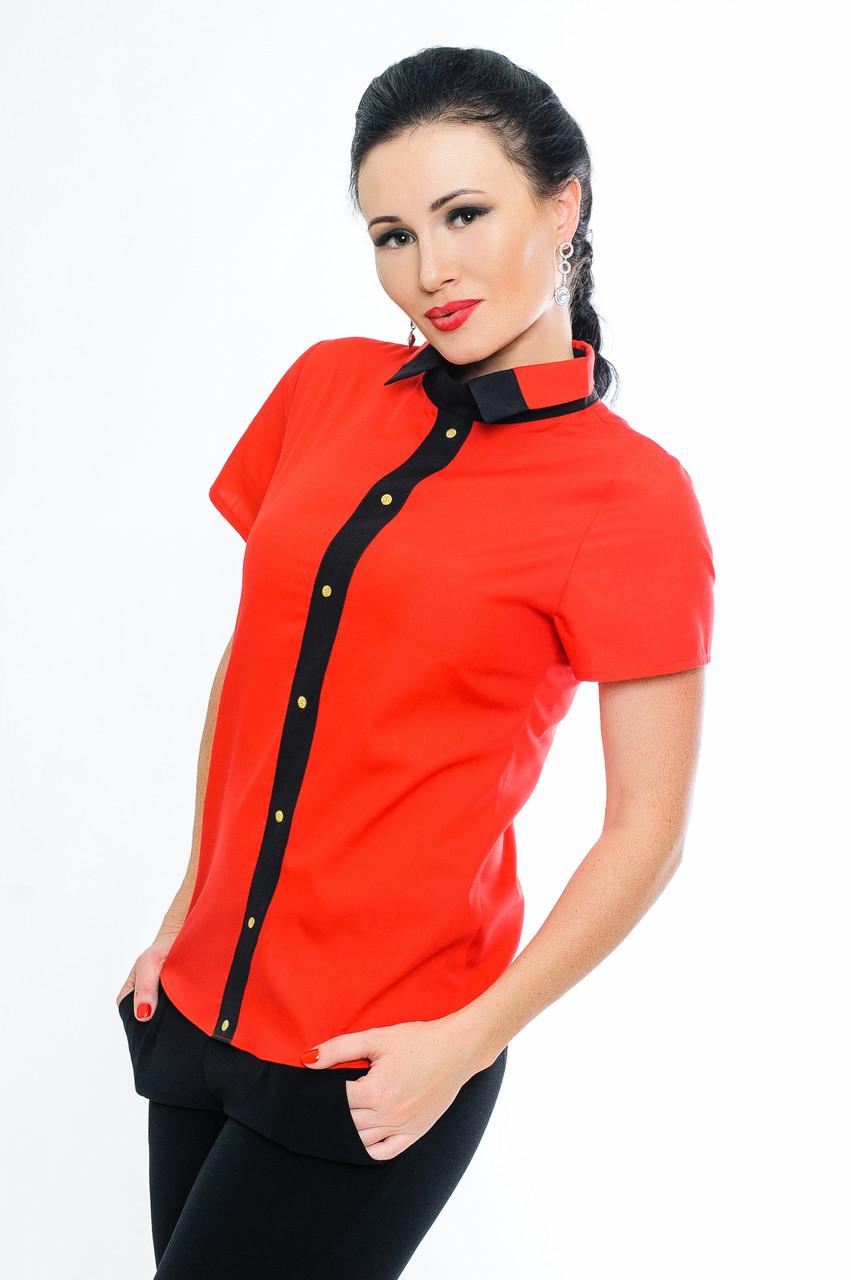 """Червона блузка сорочки """"Oxford"""" до р. 52"""