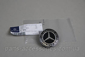 Черная эмблема значок на капот Mercedes C C-Class W205 2015+ Новый Оригинал