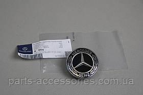 Чорна емблема значок на капот Mercedes C-Class W205 2015+ Новий Оригінал