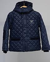 Весенняя стеганая куртка для мальчика Armani Jeans
