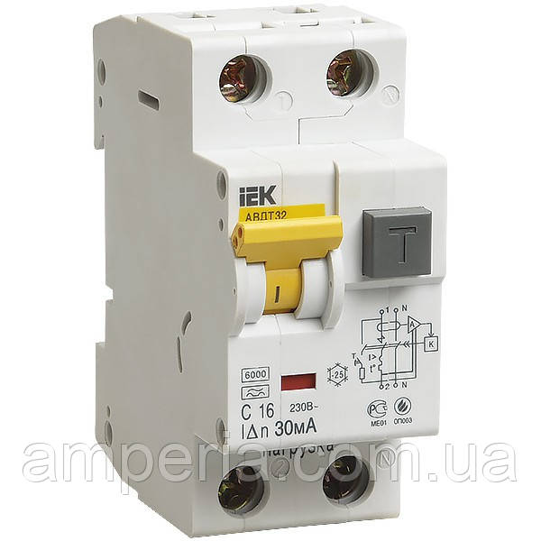 IEK Дифференциальный автомат АВДТ32 C16 30мА (MAD22-5-016-C-30)
