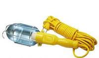 Переносная лампа электрическая с удлинителем 10 м желтый