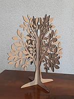 Фигурка Дерево для украшений из фанеры. Заготовка для творчества