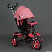Детский трехколесный велосипед Best Trike 6595 с фарой и поворотным сидением,красный