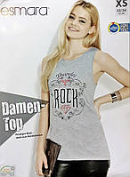 Майка футболка безрукавка женская рок надпись оригинал Германия xs s 32 34 евро