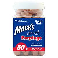 Беруши Mack's Ultra, NNR 32 dB, 50 пар