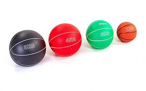 Мяч медицинский  (медбол). Вес 4кг, d-19см. Материал: плотная резина,песок
