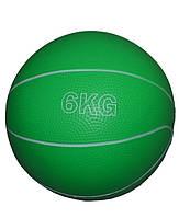 Мяч для атлетических упражнений (медбол). Вес 6кг, d-20см. Материал: плотная резина,песок