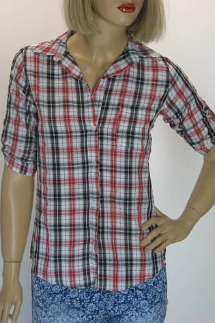 Жіноча сорочка в клітинку, фото 2