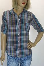 жіноча сорочка в клітинку, фото 3