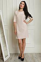 Классическое женское платье прямого фасона