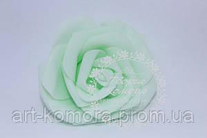 Головка розы латексная мятная, 7-8 см