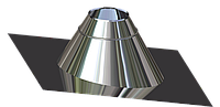 Крыза для дымохода из нержавеющей стали  d 100мм s 0,5мм α 0°-15°