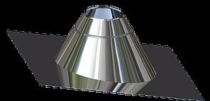 Крыза для дымохода из нержавеющей стали  d 110мм s 0,5мм α 0°-15°