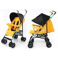 Коляска прогулочная TILLY Smart, желтый,  вес- 6,5кг, тип складывания- трость, смотровое окно, регулировка спинки- 5 положений, 5-ти конечные ремни
