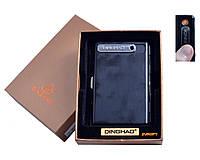 Портсигар + USB зажигалка (На 10 сигарет, Спираль накаливания) №4846 Black