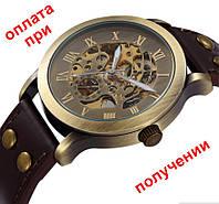 Мужские механические часы скелетон Winner Skeleton (SHEN) с автоподзаводом
