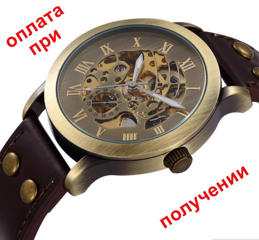 f3b980eb8a26 Мужские механические часы скелетон Winner Skeleton (SHEN) с автоподзаводом