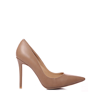 Польские женские бежевые классические туфли на шпильке 38 Vices 5440-18