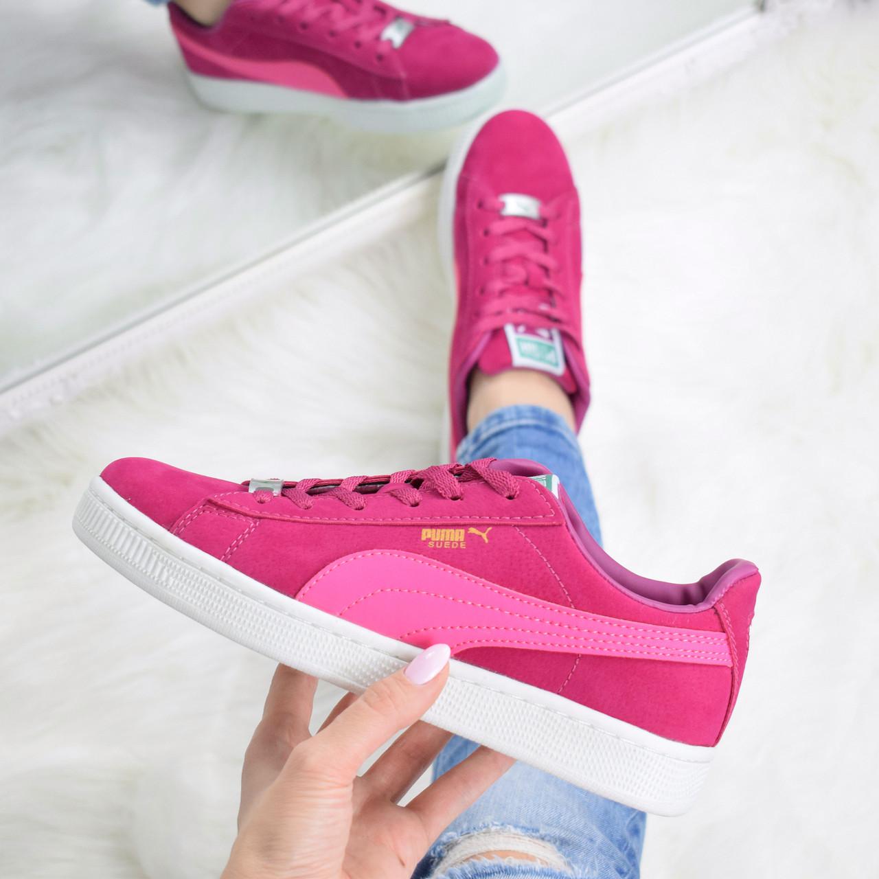 f20b2006c0d4 Кроссовки криперы женские Puma Suede розовые, спортивная обувь -  Интернет-магазин