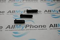 Боковая заглушка для мобильного телефона Sony D5503 Xperia Z1 Compact Mini черная