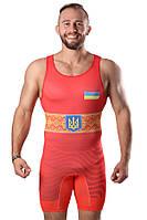 Трико для борьбы WRESTLER UKR red approved UWW