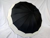Зонт трость на 16 спиц со светлой каймой № 1667 от Swifts