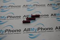 Боковая заглушка для мобильного телефона Sony D5503 Xperia Z1 Compact Mini красная