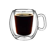 Термочашки стеклянные набор из 2 шт 300 мл Bormioli Coffe Mug 1097301