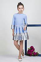 Стильное детское платье со вставкой