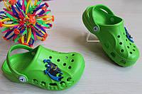 Зеленые кроксы с мультгероями для детей Crocs тм Vitaliya р.32-35