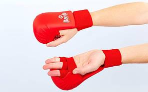 Рукавички для карате DAEDO (PU, р-р S-XL, манжет на гумці)
