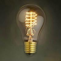 "Ретро лампа Эдисона ""груша"", 60Вт, А60, спираль"
