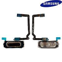 Шлейф для Samsung Galaxy S5 G900F/G900H, золотистый, кнопки меню, с компонентами  (оригинальный)