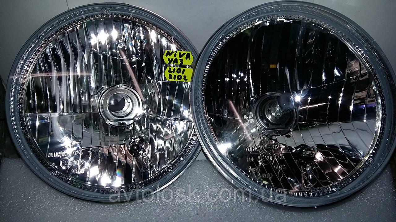 Оптика польская с прозрачным стеклом,без рефлектора,тюнинговая ВАЗ 2101,НИВА,УАЗ.