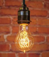 "Ретро лампа Эдисона ""груша"", 60Вт, А60-S, петля"