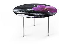Круглый стеклянный стол R 1