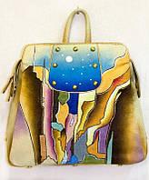 Рюкзак-сумка кожаный женский цветной 575