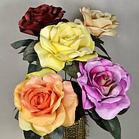 Роза искусственная 35 см в ассортименте