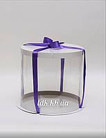 Коробка белая с прозрачной стенкой Ø35 H26