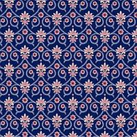 """Ткань для пэчворка и рукоделия американский хлопок """"Орнамент вензель на синем"""" - 22*55 см"""
