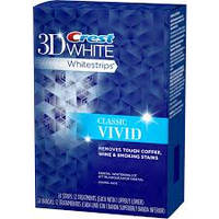 Полоски отбеливающие Crest 3D Whitestrips White Vivid Glamorous (средство для отбеливания зубов)
