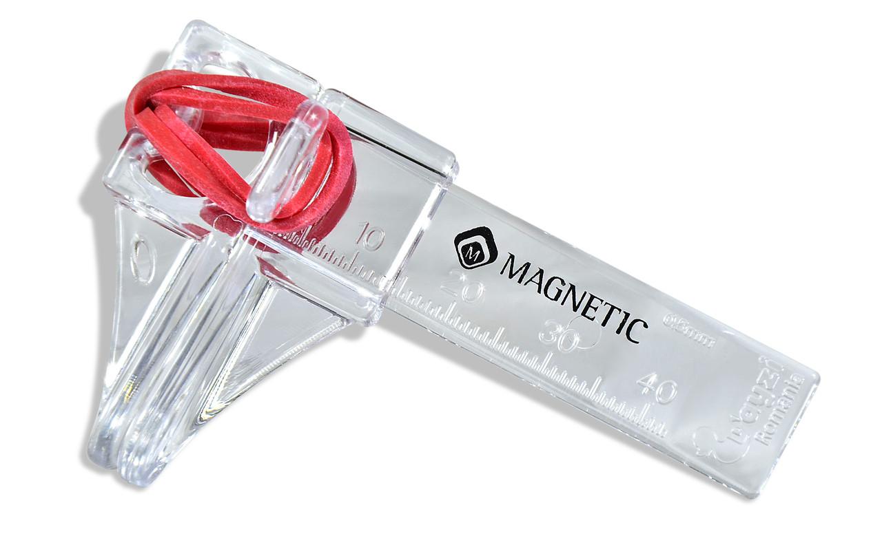Пластиковый зажим прозрачный (струбцина) для моделирования (наращивания) ногтей - MAGNETIC Украина в Харькове