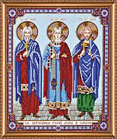 Набор для вышивания бисером на художественном холсте Святые Вера, Надежда, Любовь и мать их София